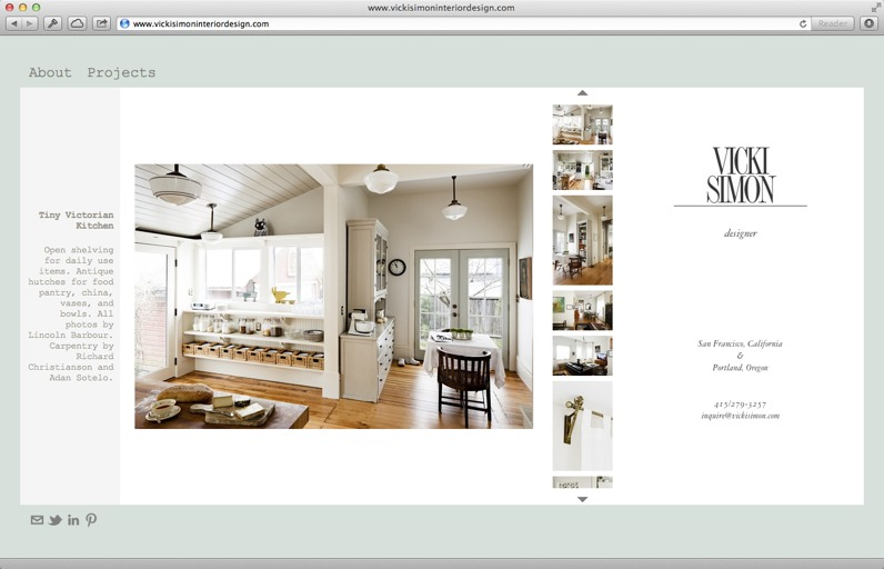Online portfolio website samples of make up artists for Interior designs by vickie